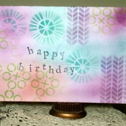 Birthday Card with Distress Inks & Stencils