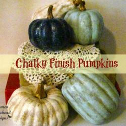 Chalky Finish Pumpkins
