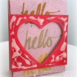 HELO TEXTURE LOVE CARD