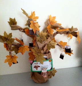Tree of Inspiration from Paper Bags