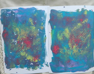 How to make basic painting on art jornal page