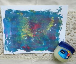 Paiting over petroleum Mixed Media art
