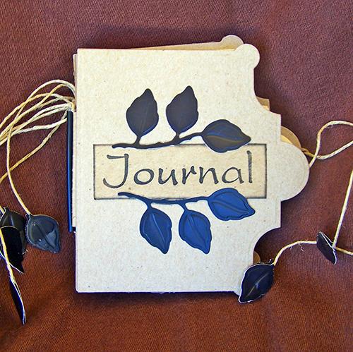 Falling Leaves Handmade Journal - Cover