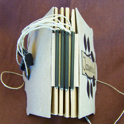 Falling Leaves Handmade  Journal - Spine (semi-closed)
