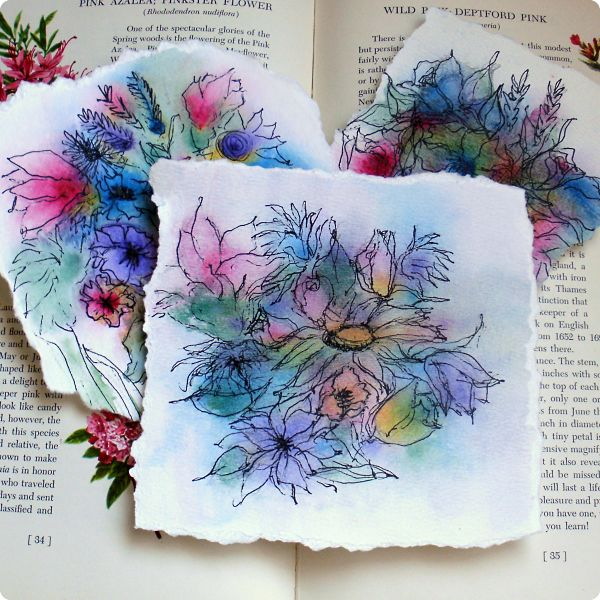 How to Make Abstract Watercolor Flowers