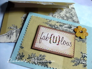 Upcycled Wallpaper Book Cards