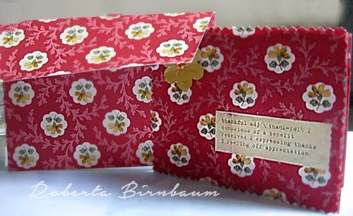 Roberta Birnbaum wallpaper card and envelope