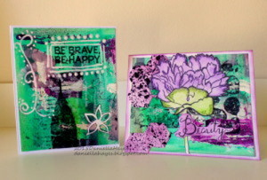Mixed Media Background Cards