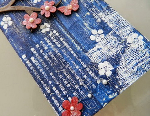 Oriental-style Altered Chipboard Panel