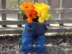 Denim Pants Flower Pot