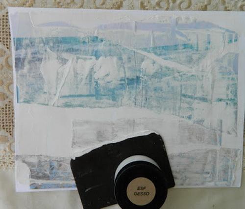 mixed media 101 easy art piece