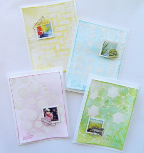Easy Mixed Media cards