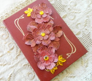 Embellished Notebook with Flowers
