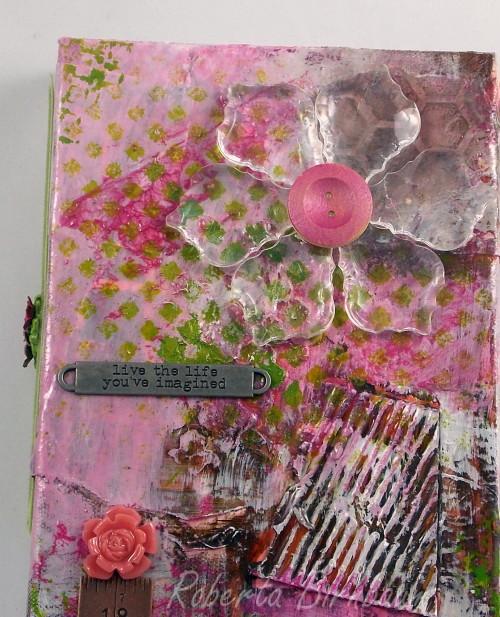 Recycled mixed media canvas