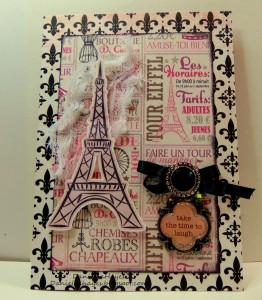 Pink Paris Card
