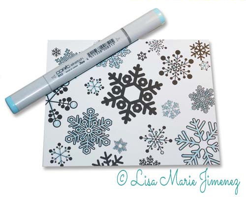 Coloring Holiday Card