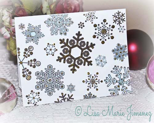 Snowflake Holiday Card by Lisa Jimenez