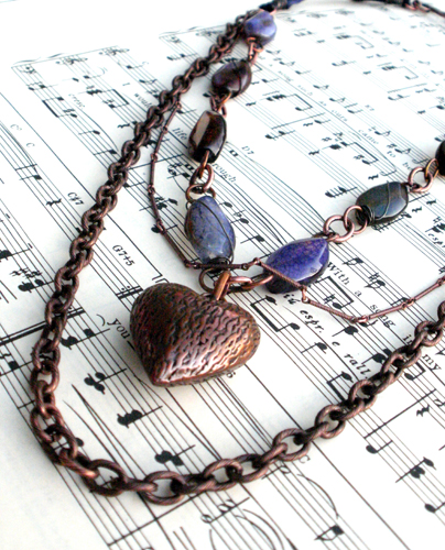 Romantic Heart Song Necklace