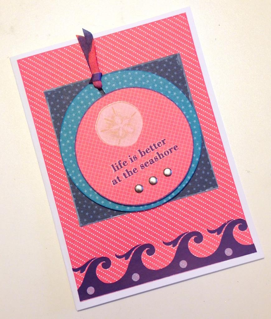 seashore greeting card lisa fulmer