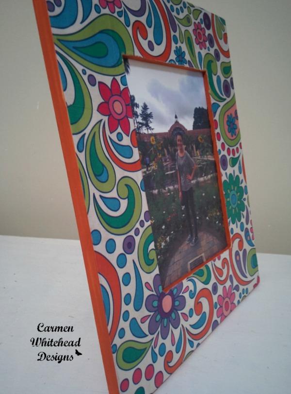 Easy Decoupaged Frame by www.carmenwhitehead.com
