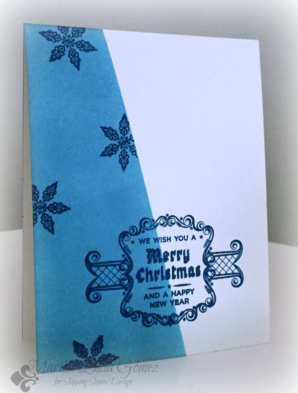 MASKING TECHNIQUE FOR CHRISTMAS CARDS