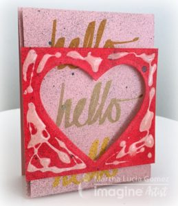Hello Texture Love Card