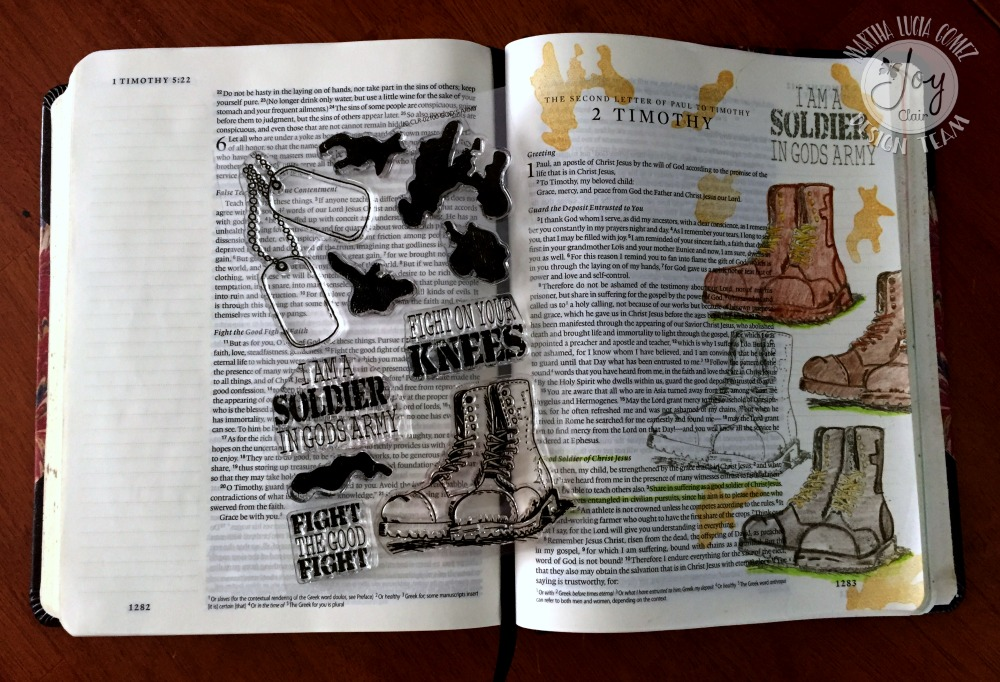 God's Army stamps for Bible Journaling