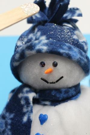 Adorable Snowman from Batting