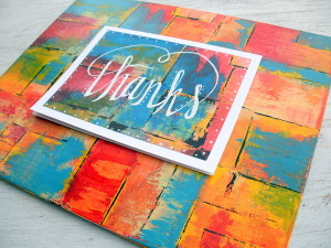 Faux Calligraphy Upcycled Art Card