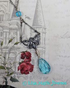 Ice Blue Nouveau Necklace