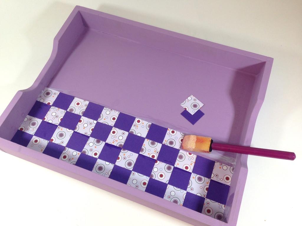 adhere tiles mosaic tray lisa fulmer