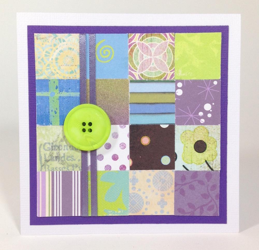 paper mosaic handmade card 1 lisa fulmer