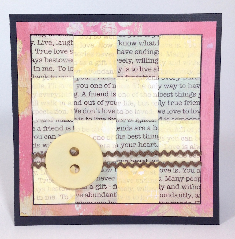 paper mosaic handmade card 2 lisa fulmer