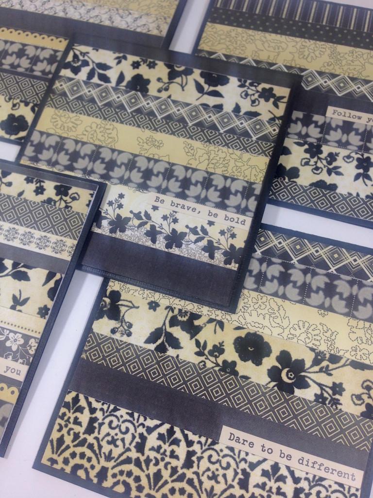 black cream cards lisa fulmer detail