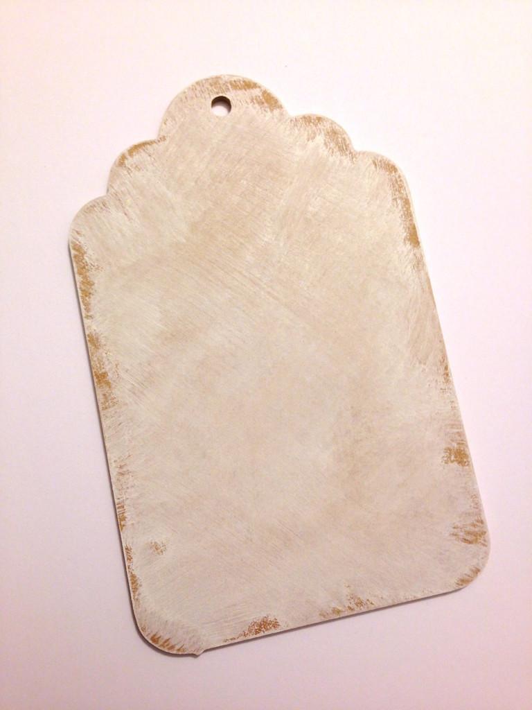 distress paint wood tag lisa fulmer