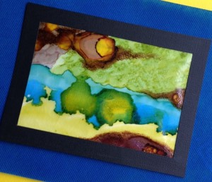 Painting on Wax Paper with Alcohol Inks